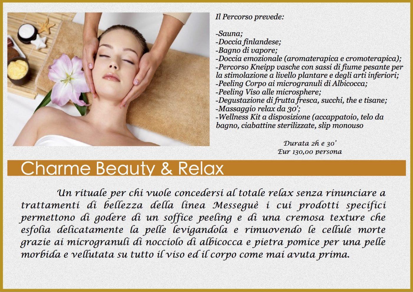Percorso Relax e Beauty centro benessere Relaxharmony